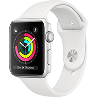 Apple Watch Series 3 38 mm fehér szíjjal