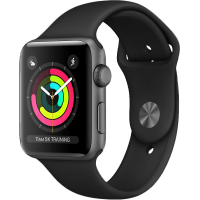 Apple Watch Series 3 42 mm fekete szíjjal