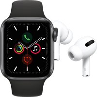 Apple Watch Series 5 (GPS + Cellular) 44 mm + Apple Airpods Pro