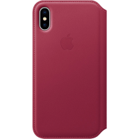 Apple iPhone X bőr folio tok